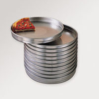"Self Stacking Pizza/cake Pans - aluminum 1.5"" deep straight sided"